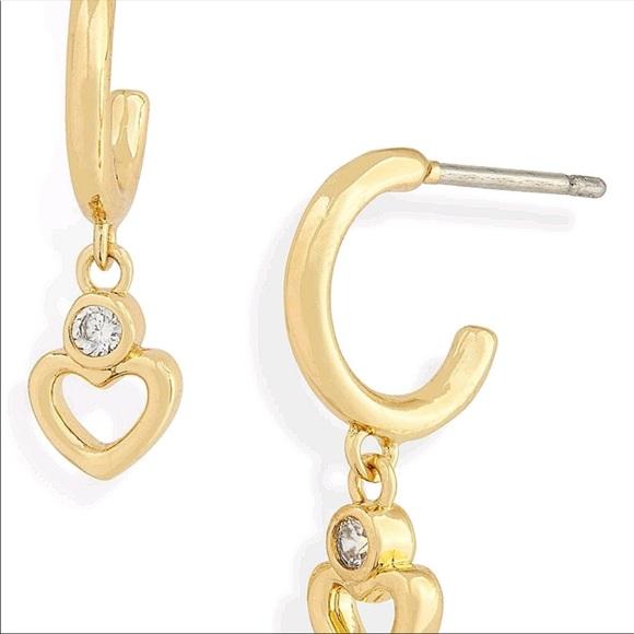 New Kate spade shining Spade Huggie earrings
